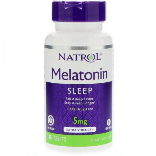Foto 1 - Melatonina Natrol 5mg Time Release - 100 Tabletes
