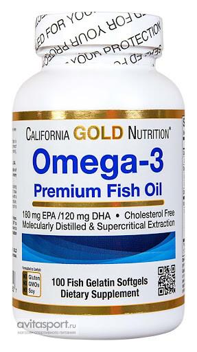 Foto1 - Ômega-3 Premium, Óleo de Peixe Premium (100 Cápsulas) - California Gold Nutrition