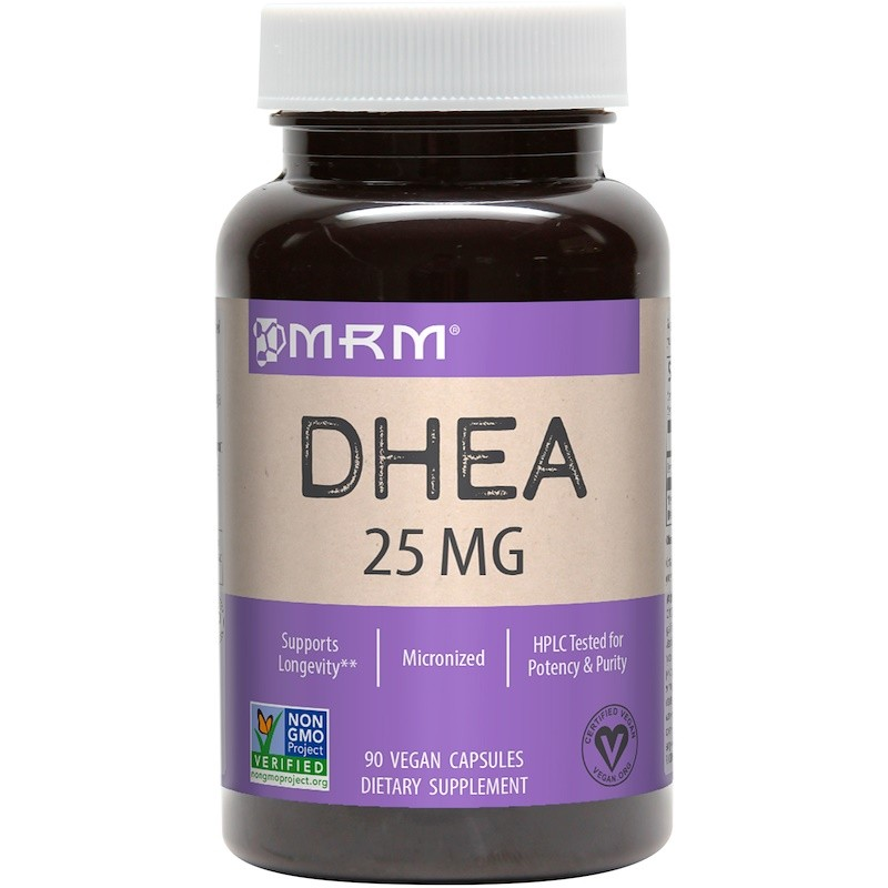 Foto2 - DHEA 25mg - MRM (90 cápsulas)