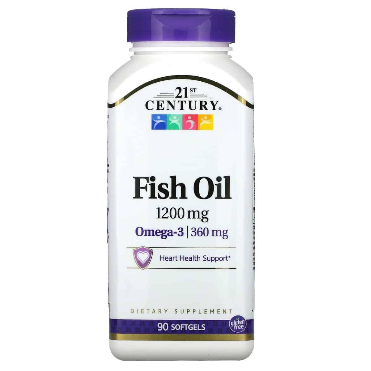 Foto 1 - Fish Oil Omega-3 1200mg (90 capsulas) - 21st Century