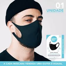 Foto 1 - Máscara Reutilizável Antibactericida Safe Mask - Fashion Med