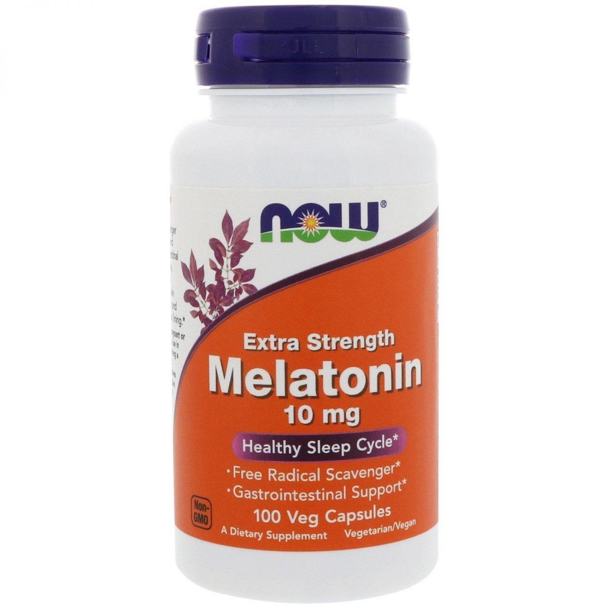 Foto 1 - Melatonina 10mg Extra Forte (100 Cápsulas) - Now Foods