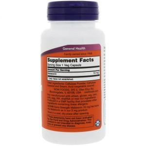 Foto2 - Melatonina 10mg Extra Forte (100 Cápsulas) - Now Foods