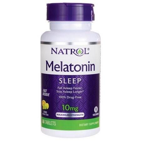 Foto 1 - Melatonina 10mg Fast Dissolve (Rápida Dissolução) 60 tabletes - Natrol