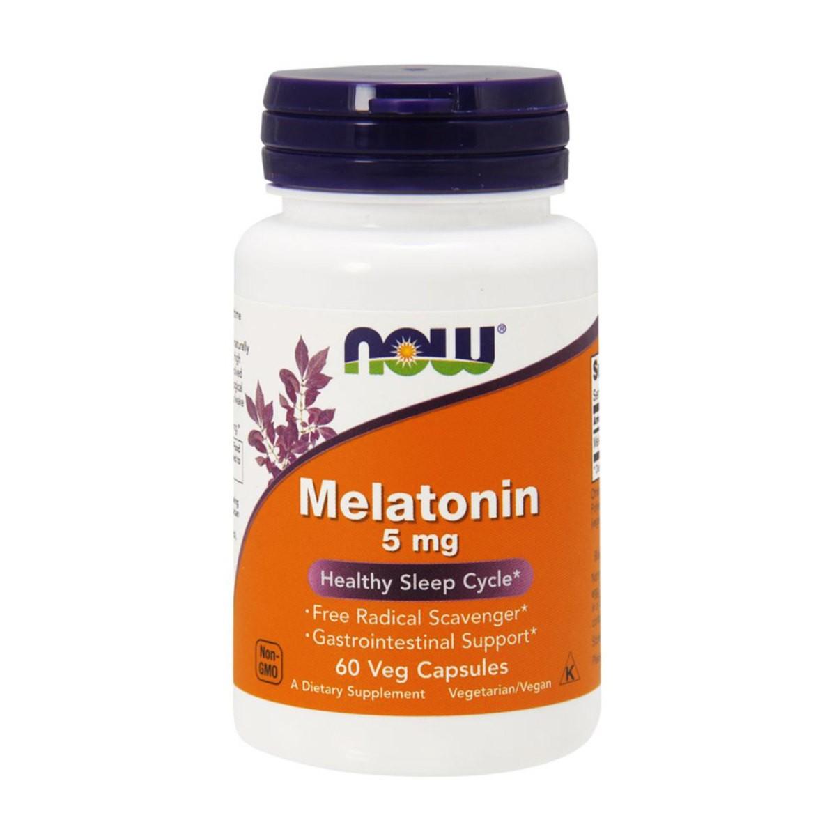 Foto 1 - Melatonina 5mg - NOW Foods
