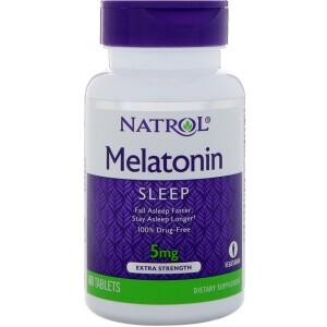 Foto1 - Melatonina 5mg (60 tabletes) - Natrol