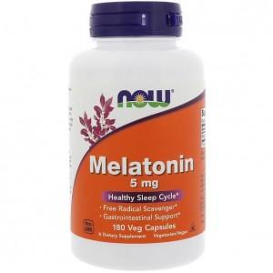 Foto1 - Melatonina 5mg - NOW Foods