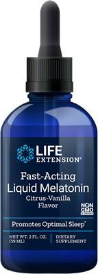 Foto 1 - Melatonina Líquida 3mg (59 ml) - Life Extension - Sabor Baunilha