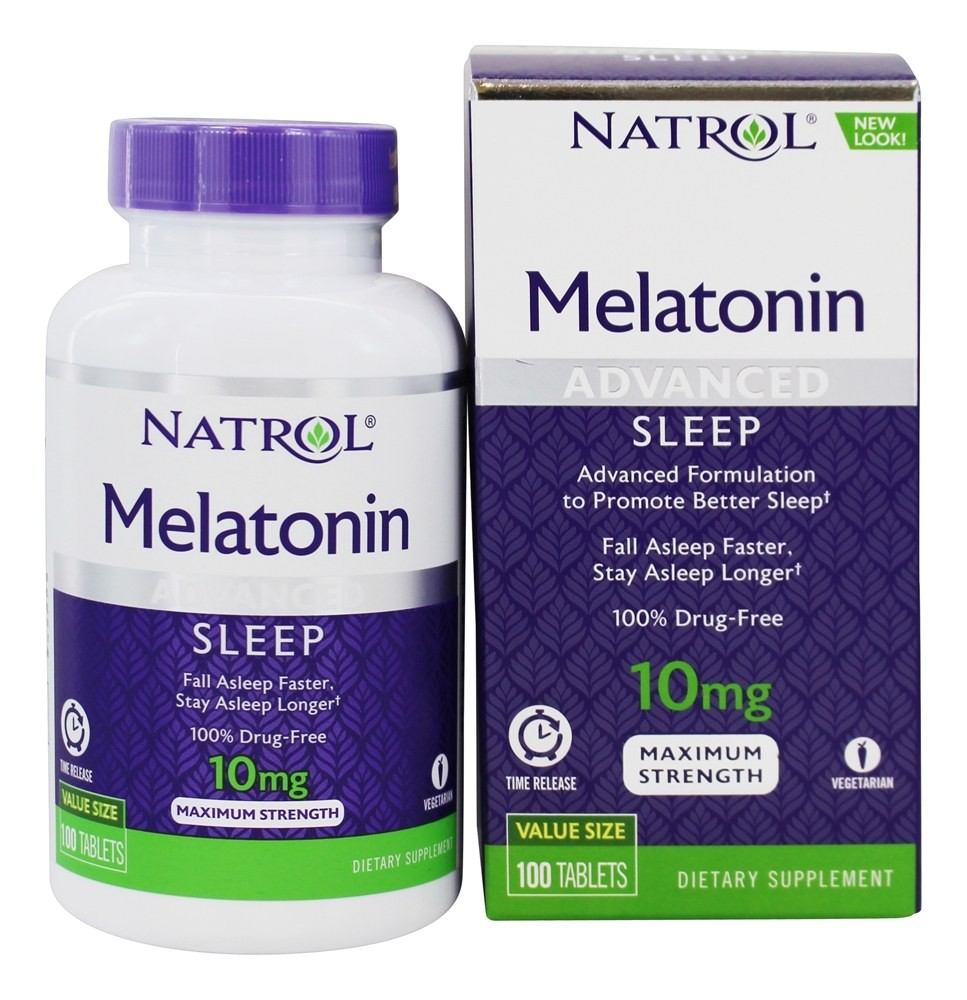 Foto 1 - Melatonina Natrol 10mg Time Release - Maximum Strength - 100 Tabletes