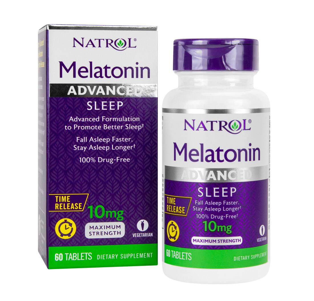Foto 1 - Melatonina Natrol 10mg Time Release - Maximum Strength - 60 Tabletes