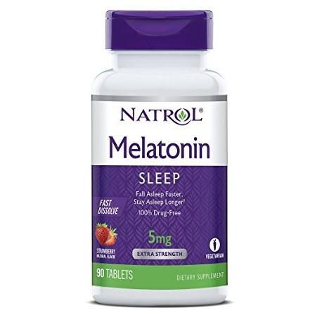 Foto 1 - Melatonina Natrol 5mg Fast Dissolve (Morango) - 90 Tabletes