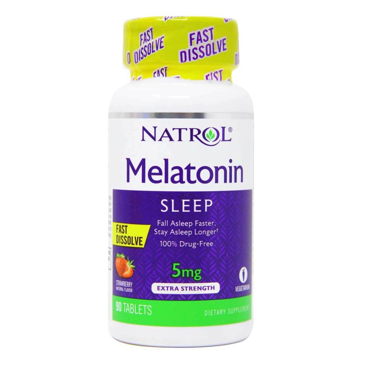 Foto 1 - Melatonina Natrol 5mg Fast Dissolve - 90 Tabletes
