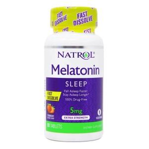 Foto1 - Melatonina Natrol 5mg Fast Dissolve - 90 Tabletes