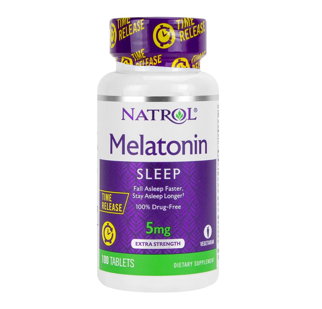 Foto 1 - Melatonina Natrol 5mg Time Release - 100 Tabletes