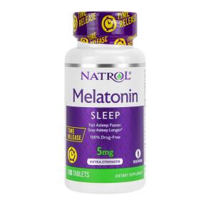 Foto1 - Melatonina Natrol 5mg Time Release - 100 Tabletes