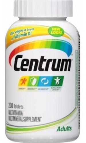 Foto1 - Multivitaminico e Mineral Centrum Adulto (Importado) - 200 Tabletes