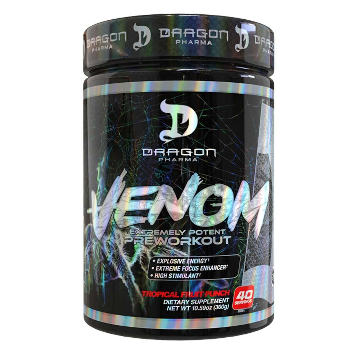 Foto 1 - Venom (40 Doses) - Pre-Treino Ultra Concentrado - Dragon Pharma