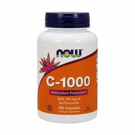 Foto 1 - Vitamina C 1000mg (100 Cápsulas) - Now Foods