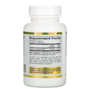 Foto2 - Vitamina C 1000mg (60 Cápsulas) - Califórnia Gold Nutrition