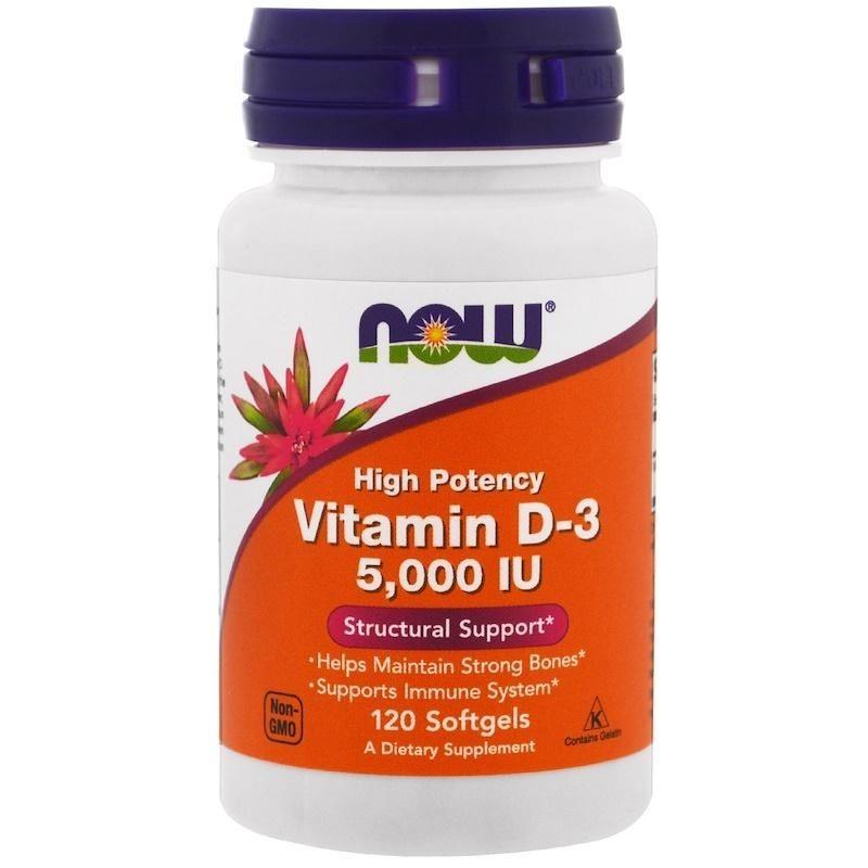Foto 1 - Vitamina D3 Now 5000 IU - Now Foods