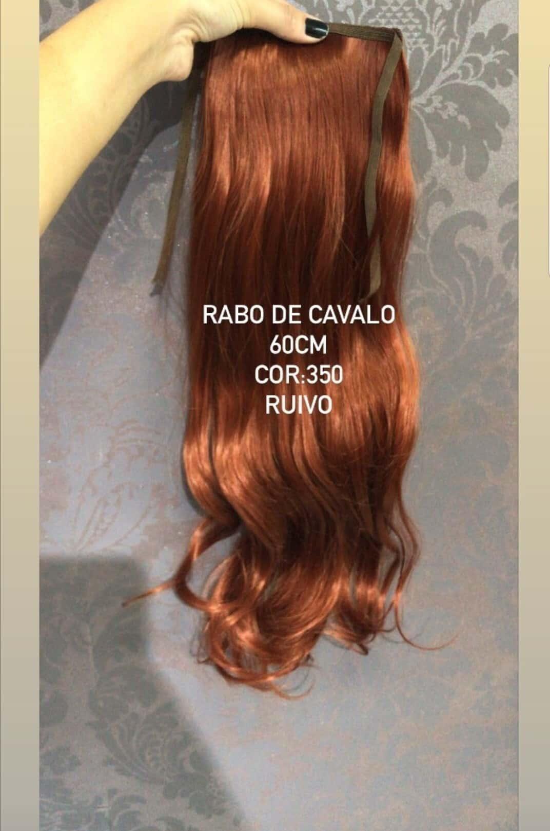 Imagem do produto RABO DE CAVALO BIO FIBRA LISO COR RUIVO