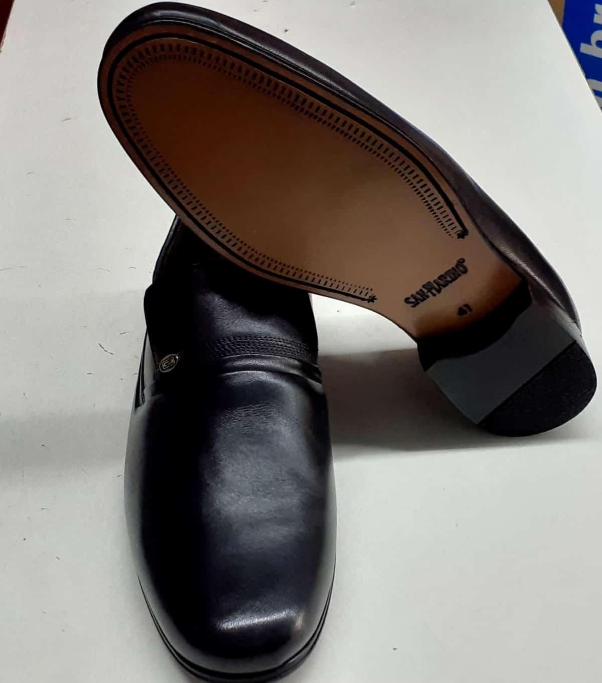Foto2 - Sapato Social com solado de couro e pele de cabra