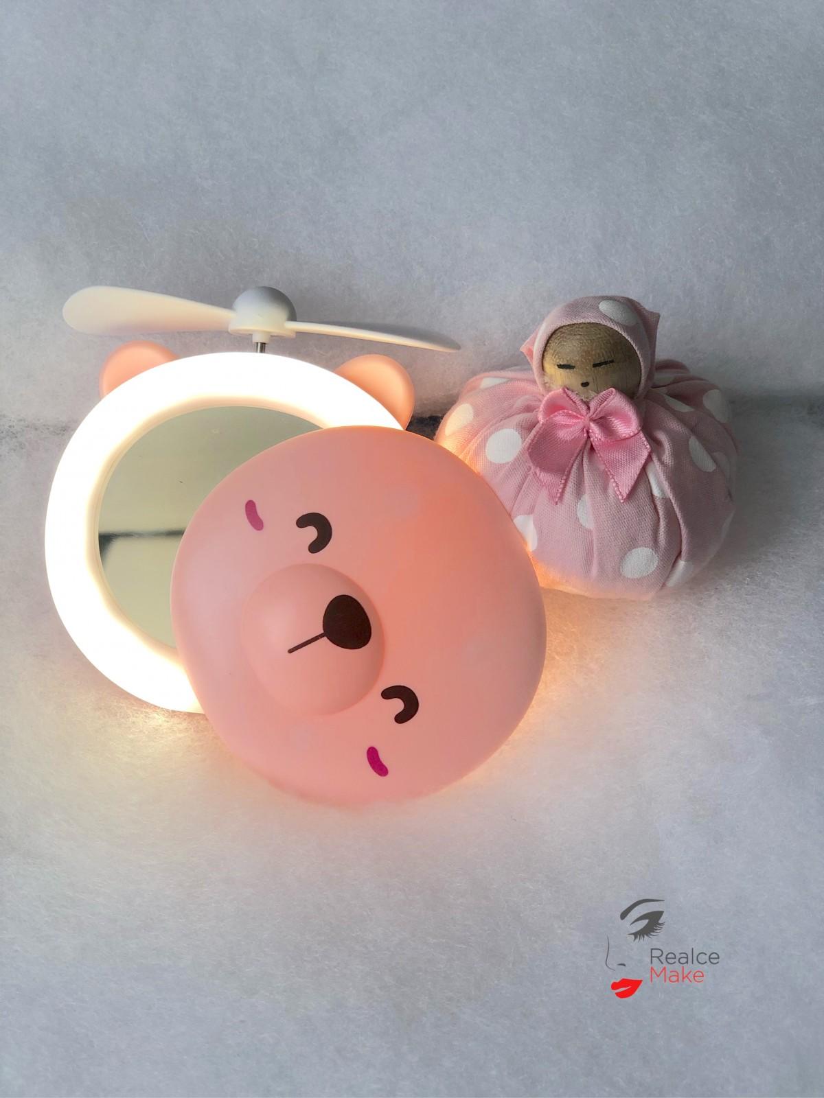 Imagem do produto Ursinho Espelho Led C/ Ventilador Portátil - RM-000200
