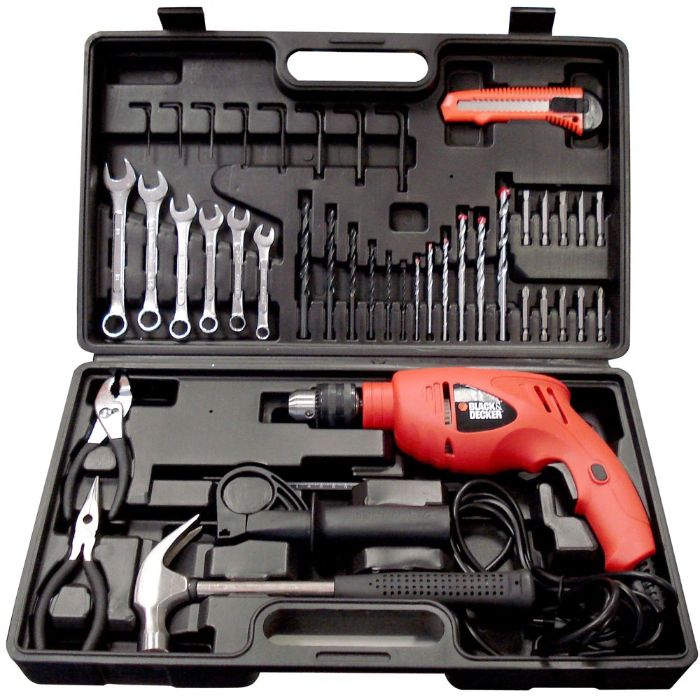 Foto 1 - Kit Furadeira e Box Black&Decker HD560K-BR