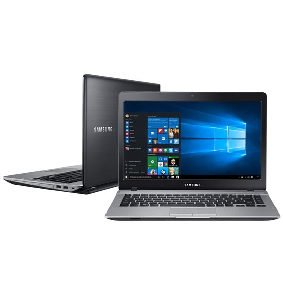 "Foto1 - Notebook Samsung Intel Dual Core 4GB 500GB Essentials E21 Tela 14"" Windows 10"