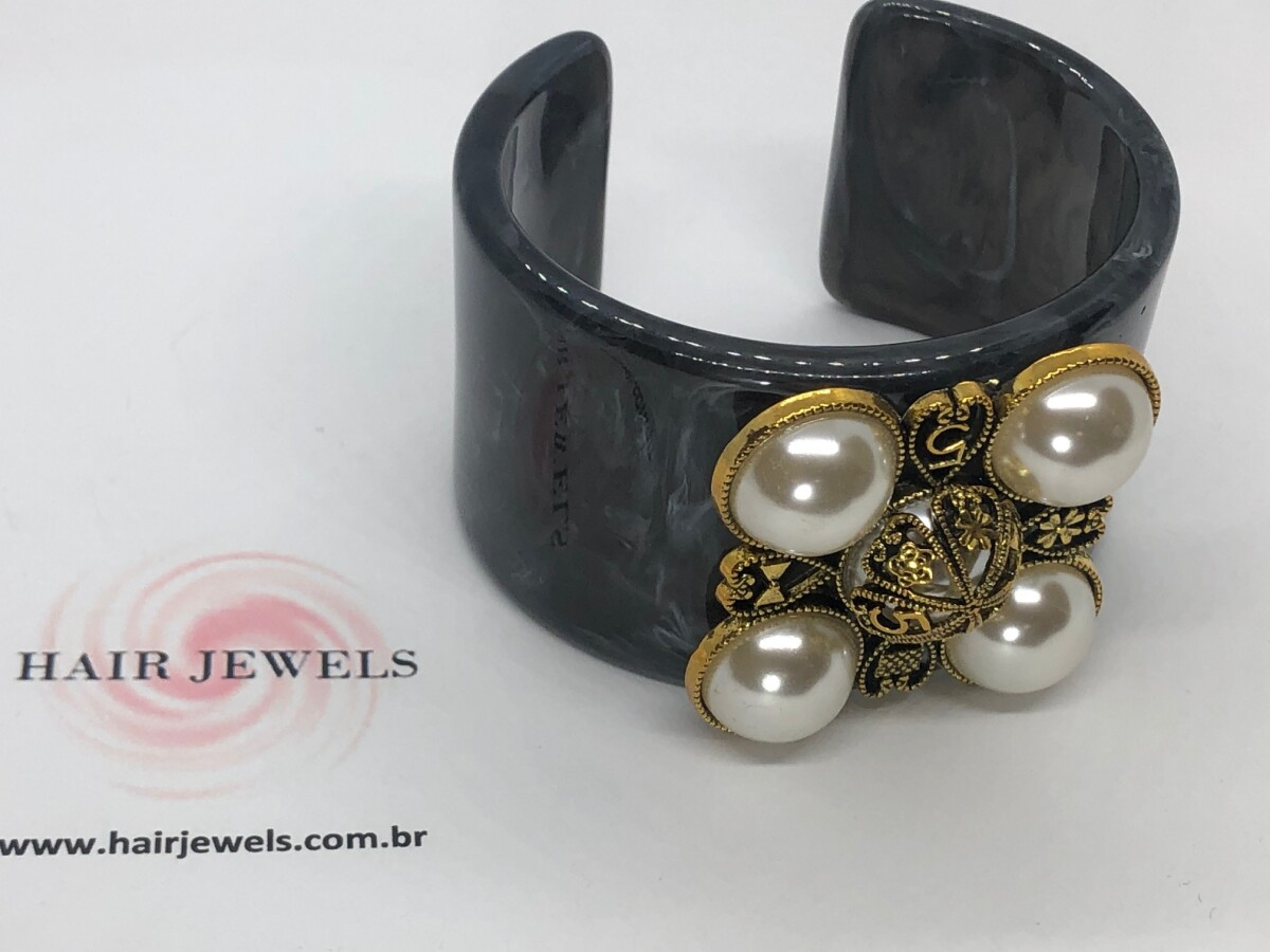 Foto 1 - HJ 347 - Bracelete em Acetato com detalhes