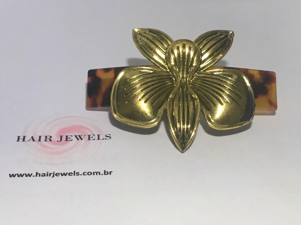 Foto 1 - HJ 256 - Presilha Orquídea Metal
