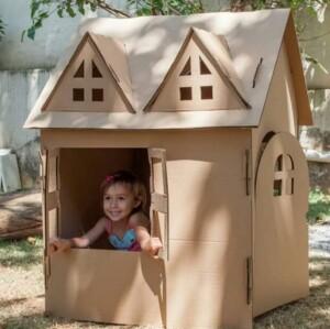 Foto1 - casinha de papelão