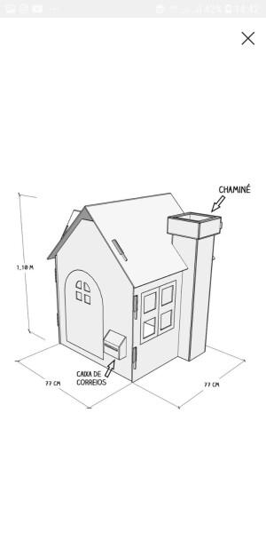 Foto2 - casinha de papelão