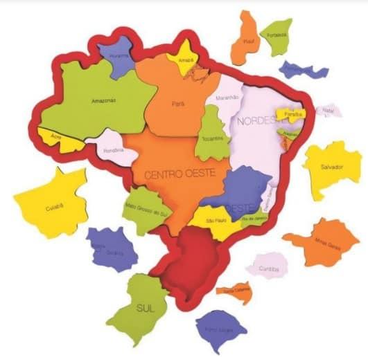 Foto 1 - QUEBRA-CABEÇA MAPA DO BRASIL