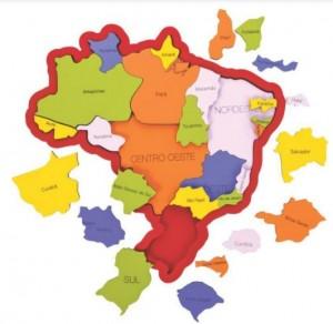 Foto1 - QUEBRA-CABEÇA MAPA DO BRASIL