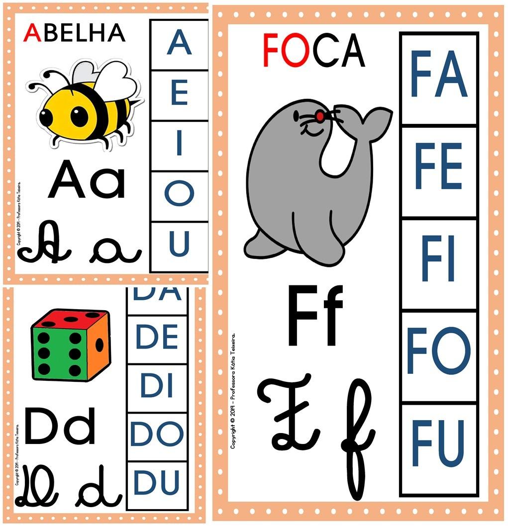 Foto1 - Alfabeto 4 tipos de letras com sílabas
