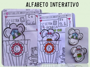Foto1 - Alfabeto interativo, letras, desenhos, tipos de letras, palavras e sílabas