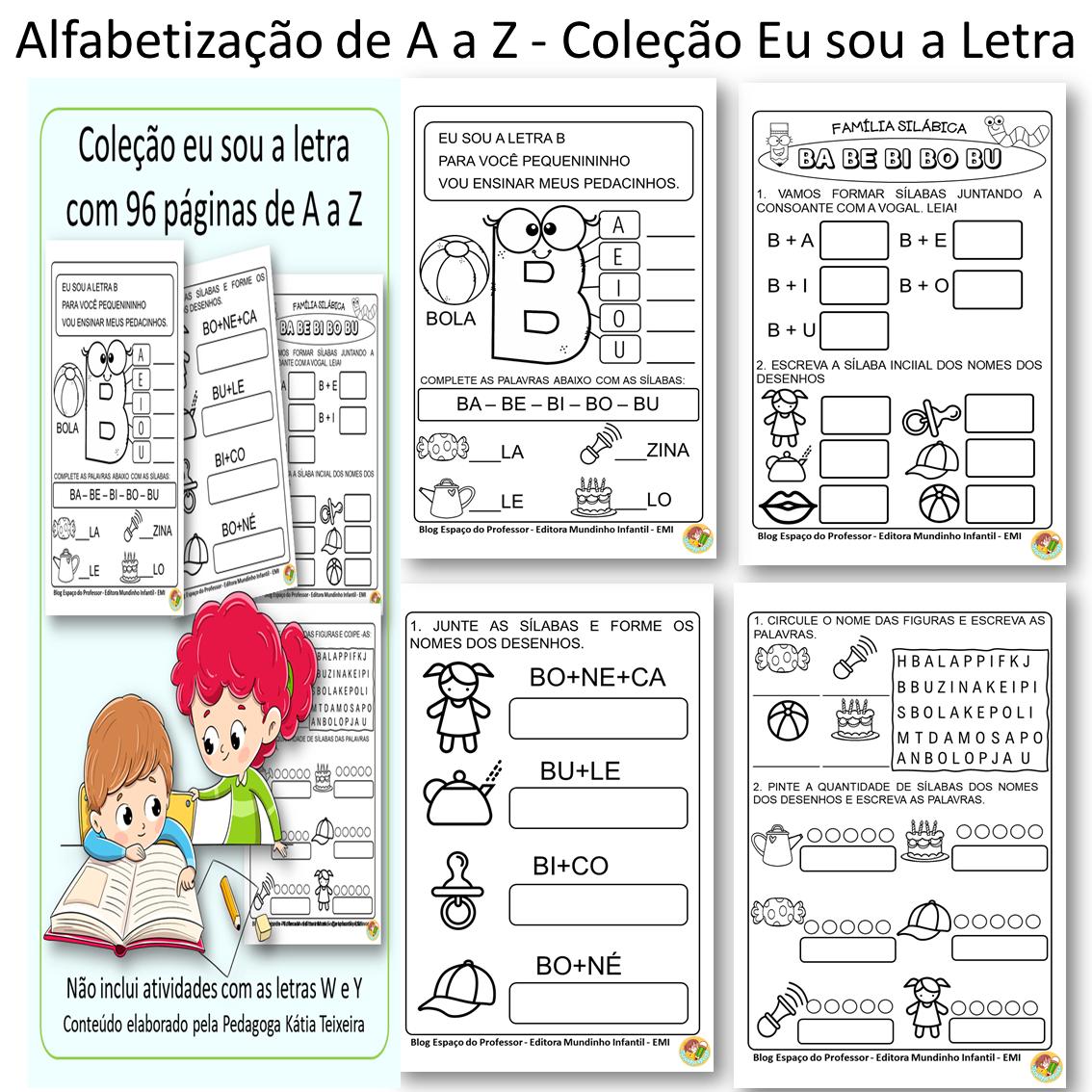 Foto 1 - Apostila de Alfabetização Coleção Eu sou a Letra com 96 páginas