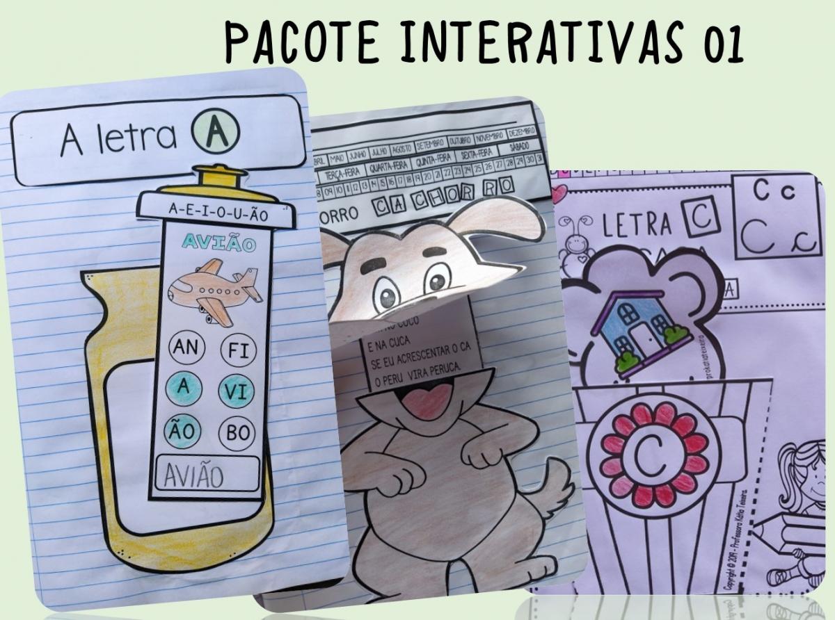 Foto 1 - Atividades de alfabetização: Pacote de atividades interativas 01