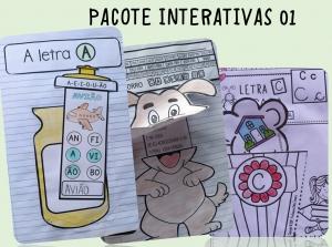 Atividades de alfabetização: Pacote de atividades interativas 01