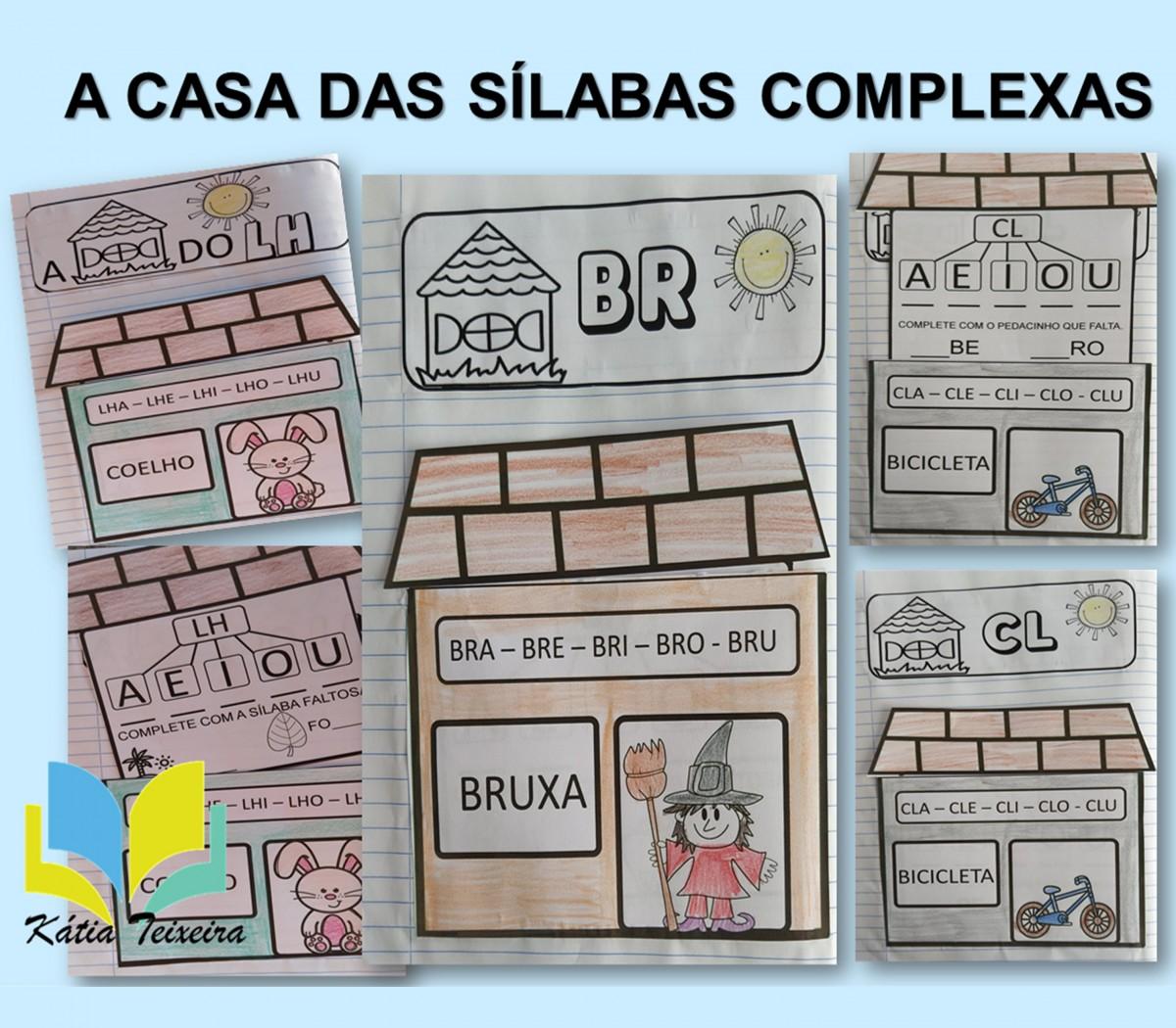 Foto 1 - Atividades de alfabetização sílabas complexas A casa das sílabas complexas