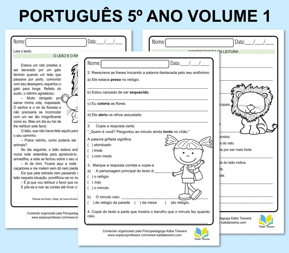 Foto 1 - Atividades de português 5º ano apostila com 22 páginas em PDF