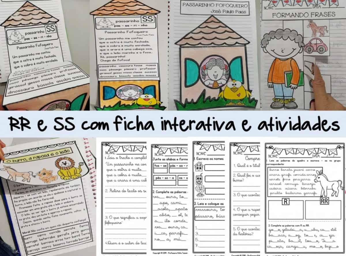 Foto 1 - Atividades RR, Atividades SS com ficha de leitura interativa
