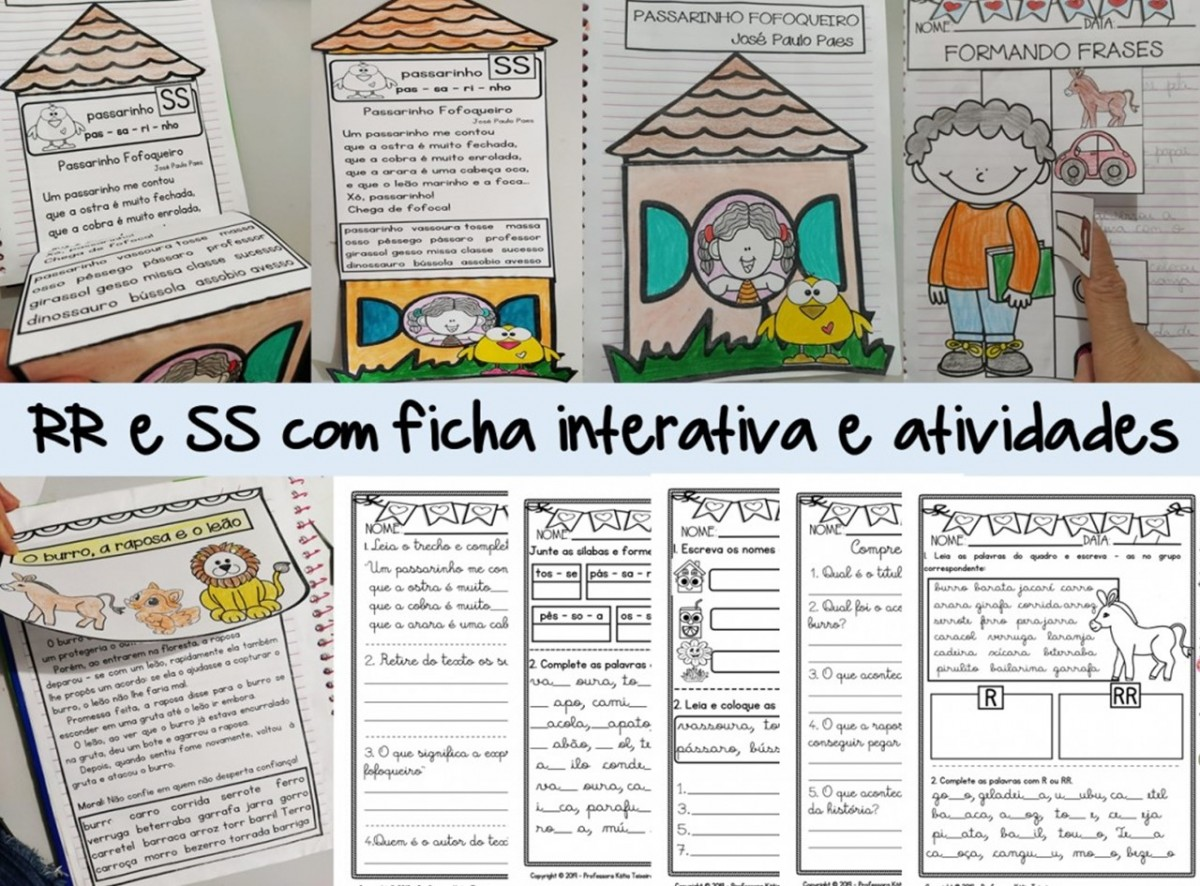 Foto1 - Atividades RR, Atividades SS com ficha de leitura interativa