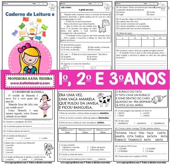 Foto 1 - Caderno de Atividades Leitura e Interpretação Ciclo de Alfabetização
