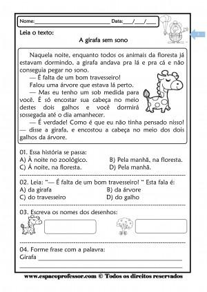Foto2 - Caderno de Atividades Leitura e Interpretação Ciclo de Alfabetização