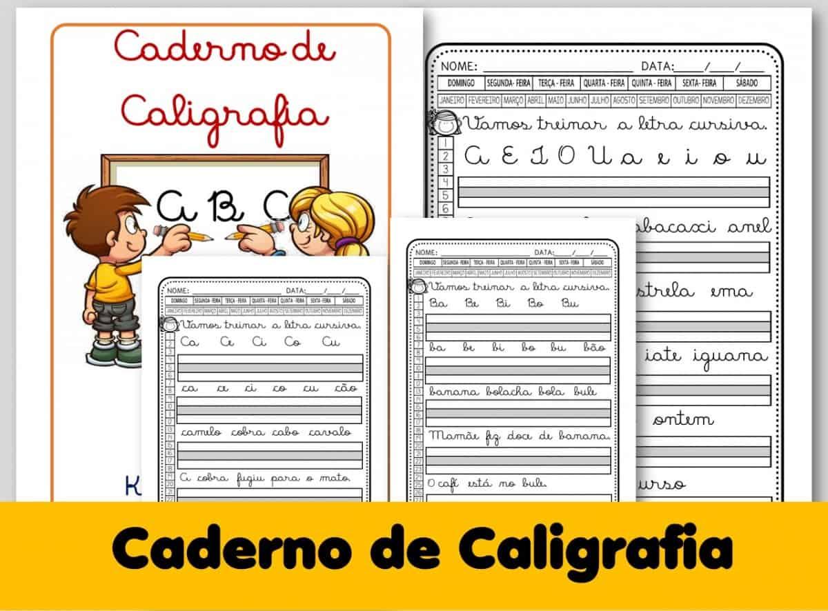 Foto 1 - Caligrafia letras, sílabas, palavras e frases