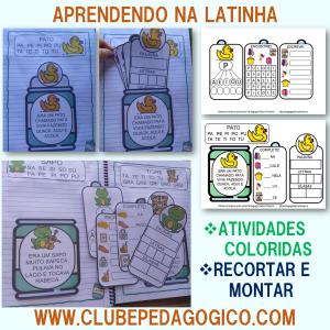 Foto1 - Coleção de atividades de alfabetização aprendendo na latinha