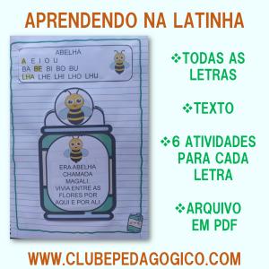 Foto2 - Coleção de atividades de alfabetização aprendendo na latinha