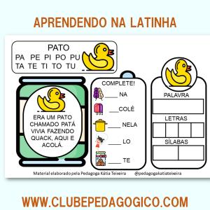 Foto5 - Coleção de atividades de alfabetização aprendendo na latinha